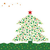 Xmas tree design Stock Image