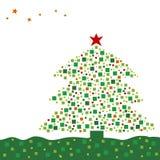 Xmas tree design Stock Image
