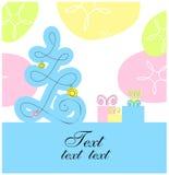 Xmas tree design card Stock Image