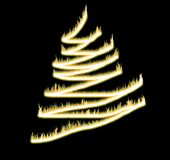 Xmas tree fired Stock Image