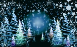 Xmas tree (forest) Royalty Free Stock Photography