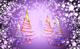 Xmas tree (forest) Royalty Free Stock Images