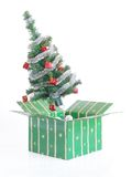 Xmas tree gift Royalty Free Stock Image
