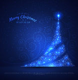 Xmas tree glowing background Royalty Free Stock Image