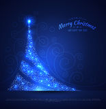 Xmas tree glowing background. Vector illustration of Xmas tree glowing background stock illustration