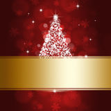 Xmas Tree and Golden Spot Royalty Free Stock Images