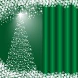 Xmas tree green background Royalty Free Stock Photos