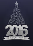 2016 xmas tree. Illustration of 2016 text with christmas tree vector illustration