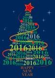 2016 xmas tree Royalty Free Stock Images