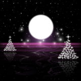 Xmas Tree Indicates Merry Christmas And Astronomy Royalty Free Stock Photos