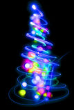 Xmas tree. (lights) on the black background Stock Images