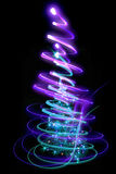 Xmas tree. (lights) on the black background Stock Image