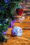 Xmas Tree. X'mas Tree with snow man Royalty Free Stock Photo