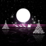 Xmas Tree Means Full Moon And Lunar Royalty Free Stock Images
