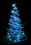 xmas tree in the night Royalty Free Stock Photography