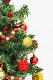 Xmas tree over a white background Royalty Free Stock Photo