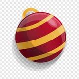 Xmas tree red ball icon, cartoon style royalty free illustration