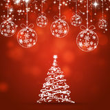 Xmas Tree Red Holiday Background Stock Photography