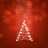 Xmas Tree Red Holiday Background Stock Images