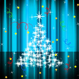 Xmas Tree Represents Live Event And Celebration Stock Images