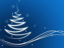 Xmas Tree Represents Merry Christmas And Copy Stock Image