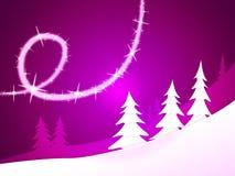 Xmas Tree Represents New Year And Holiday Royalty Free Stock Photo