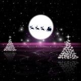 Xmas Tree Represents Santa Claus And Holiday Stock Photography