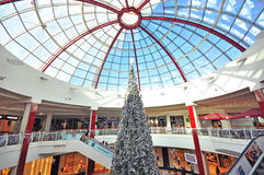 Xmas tree in shopping centre Royalty Free Stock Photos