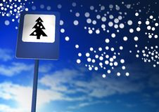 Xmas tree sign Royalty Free Stock Photo