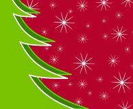 Xmas Tree Snow Background 2 Royalty Free Stock Image