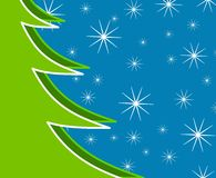 Xmas Tree Snow Background Stock Images