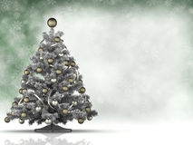 Xmas tree and space for your text Royalty Free Stock Photography