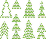 Xmas tree symbols Royalty Free Stock Photography