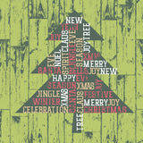 Xmas tree words_composition. Stock Images