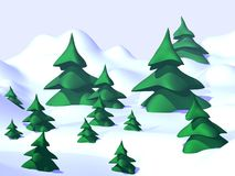 Xmas trees. Computor generated picture of xmas trees Stock Photography