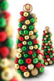 Xmas trees. In perspective and shallow focus Royalty Free Stock Image