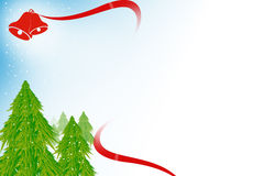 Xmas trees with bells, abstrack background Royalty Free Stock Photo