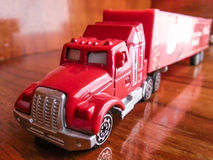 Xmas truck toy Stock Images
