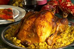 Xmas turkey Royalty Free Stock Image