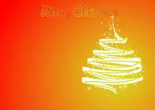 Xmas vector. Winter style background with glamour pine tree Stock Photo