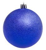 Xmas violet ball isolated on white Stock Images