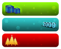 Xmas web Banner. Design with colorful elements vector illustration