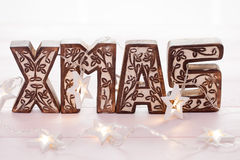 Xmas Wooden Letters Stock Photography
