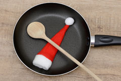 Xmas wooden spoon Royalty Free Stock Image