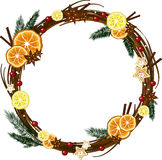 Xmas wreath Royalty Free Stock Images
