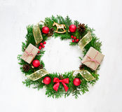 Xmas wreath Stock Photography
