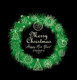 Xmas wreath with lacy decoration Stock Photo