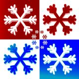 Xmasb. Illustration of a snow flake Royalty Free Stock Photography