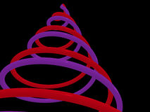 Xmass. Abstract christmas neon tree. 3d Royalty Free Stock Image
