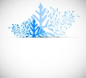 Xmass background. Bright christmas background with snowflakes Stock Photography